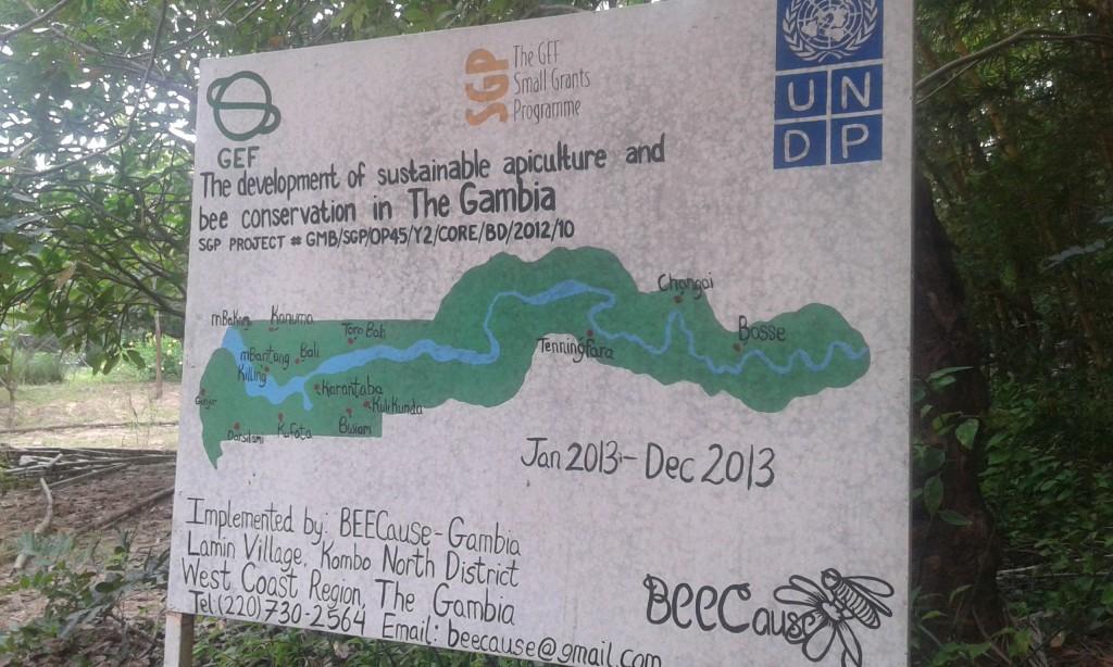 mapa gambia